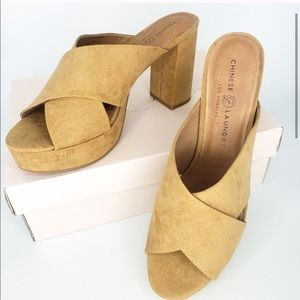 New Chinese Laundry Teagen Camel Suede Platform